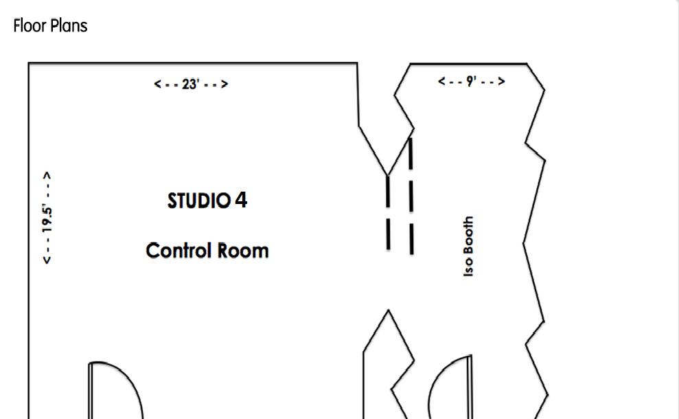 Floorplan studio 4