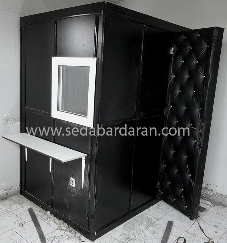 اتاقک اکوستیک حرفه ای اتاقک آکوستیک ثابت کوچک تجهیزات آکوستیک صدابرداران اتاقک ثابت آکوستیک سایز کوچک 2.10*1.20*1.20