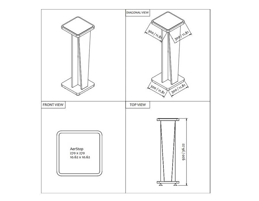 تجهیزات-آکوستیک-پایه-اسپیکر-Corestand36