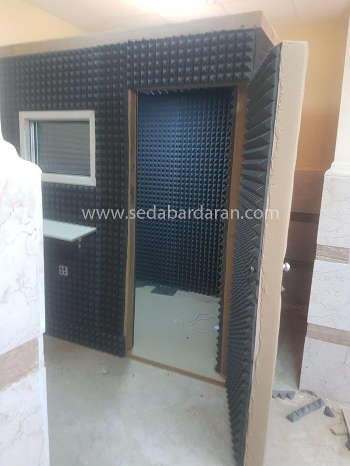 تجهیزات اکوستیک اتاقک اکوستیک اتاقک آکوستیک ثابت کوچک تجهیزات آکوستیک صدابرداران اتاقک ثابت آکوستیک سایز کوچک 2.10*1.20*1.20