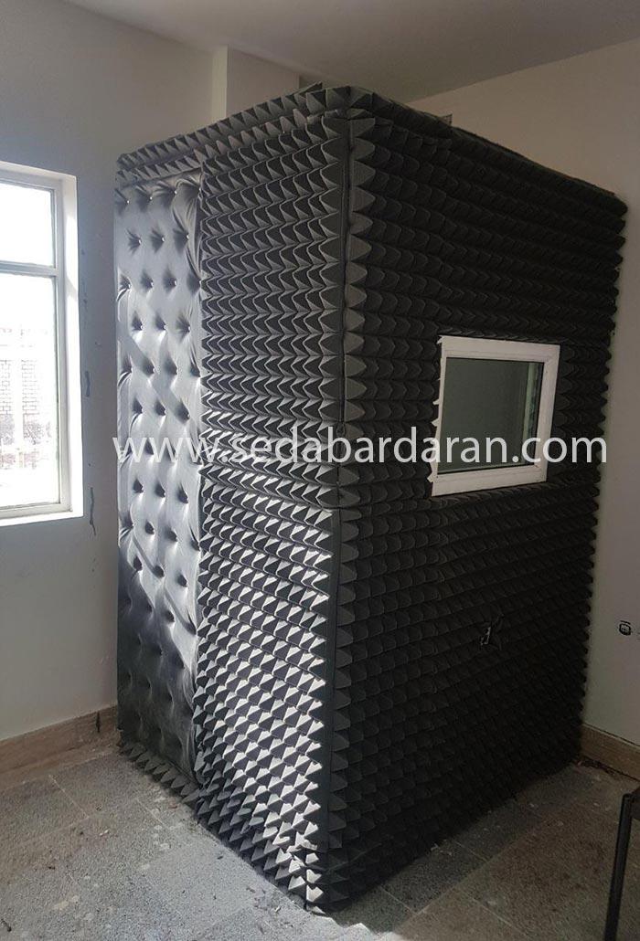 نحوه تولید اتاقک اکوستیک اتاقک آکوستیک ثابت کوچک تجهیزات آکوستیک صدابرداران اتاقک ثابت آکوستیک سایز کوچک 2.10*1.20*1.20