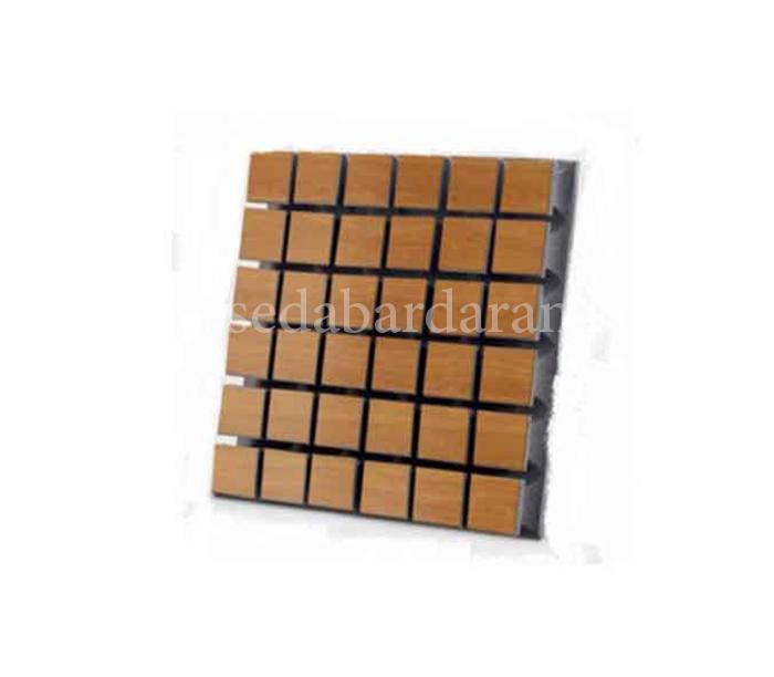 تجهیزات آکوستیک پنل ابزورب مربعی قهوه ای روشن Absorb panel A50 WOOD light Brown 50