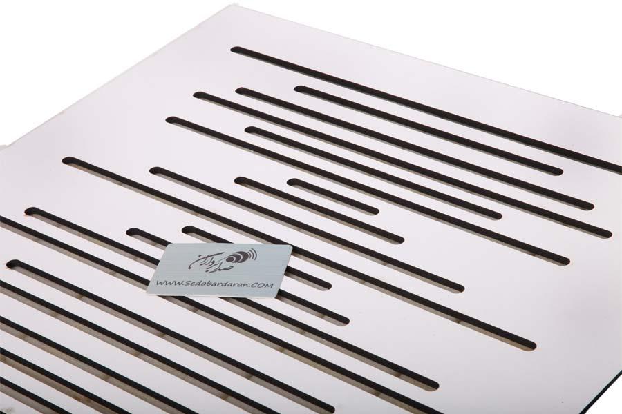 تجهیزات آکوستیک پنل ابزورب موجی سفید Sound absorbing Wave Wood Panel White 60