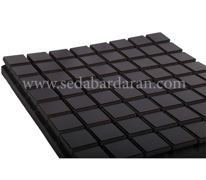 تجهیزات آکوستیک پنل ابزورب مربعی مشکی  Absorb panel A50 WOOD Black