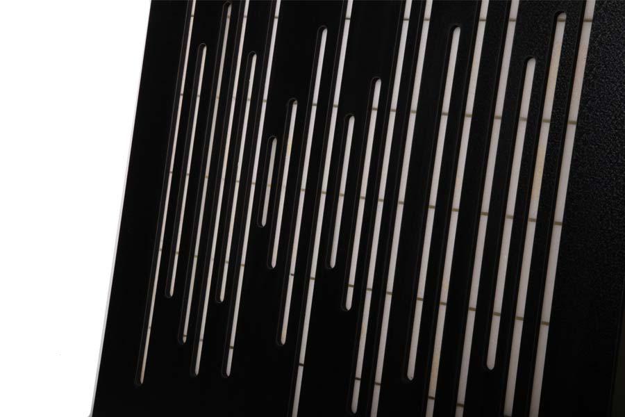 تجهیزات آکوستیک پنل ابزورب موجی مشکیSound absorbing wave wood panel black 60