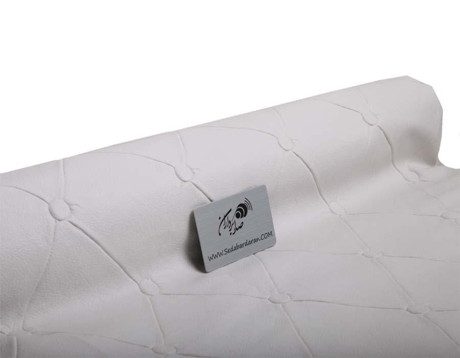 تجهیزات آکوستیک چرم لمسه سفید دکمه دار