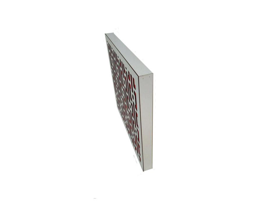 تجهیزات آکوستیک ابزورب هندسی سفید قرمز sound absorbing geometric WR 60