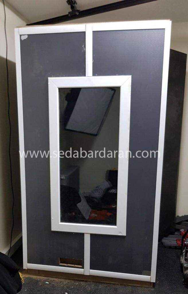 تجهیزات آکوستیک صدابرداران اتاقک ثابت آکوستیک سایز بزرگ2.10*2.40*1.80 سانتیمتر