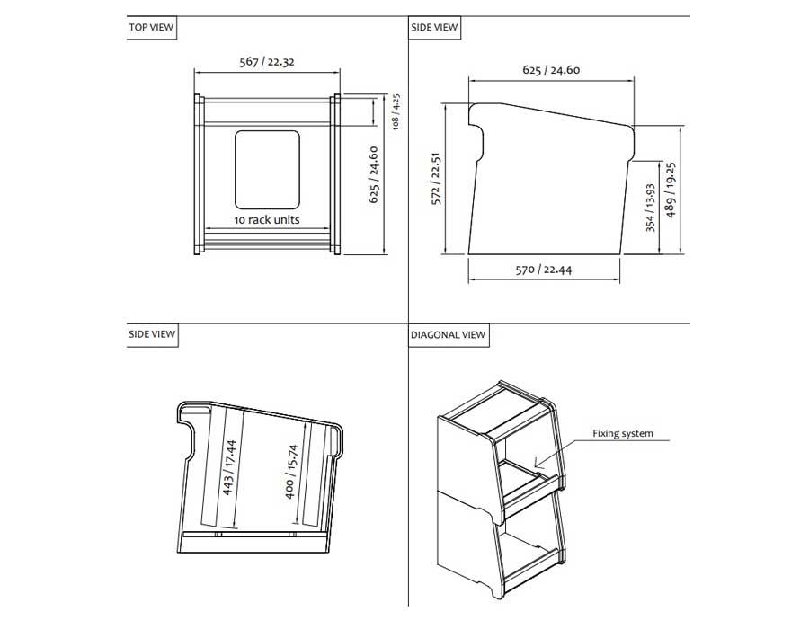 تجهیزات-آکوستیک-رک-مونت-چوبی-Rackroll