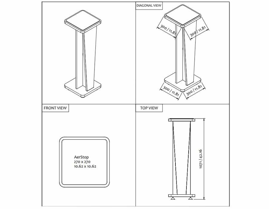 تجهیزات آکوستیک پایه اسپیکر چوبی Corce Stand 42