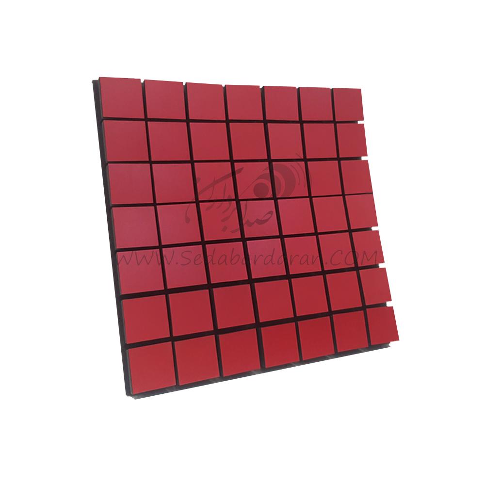 پنل آکوستیک پنل ابزورب مربعی قرمزflexi A50