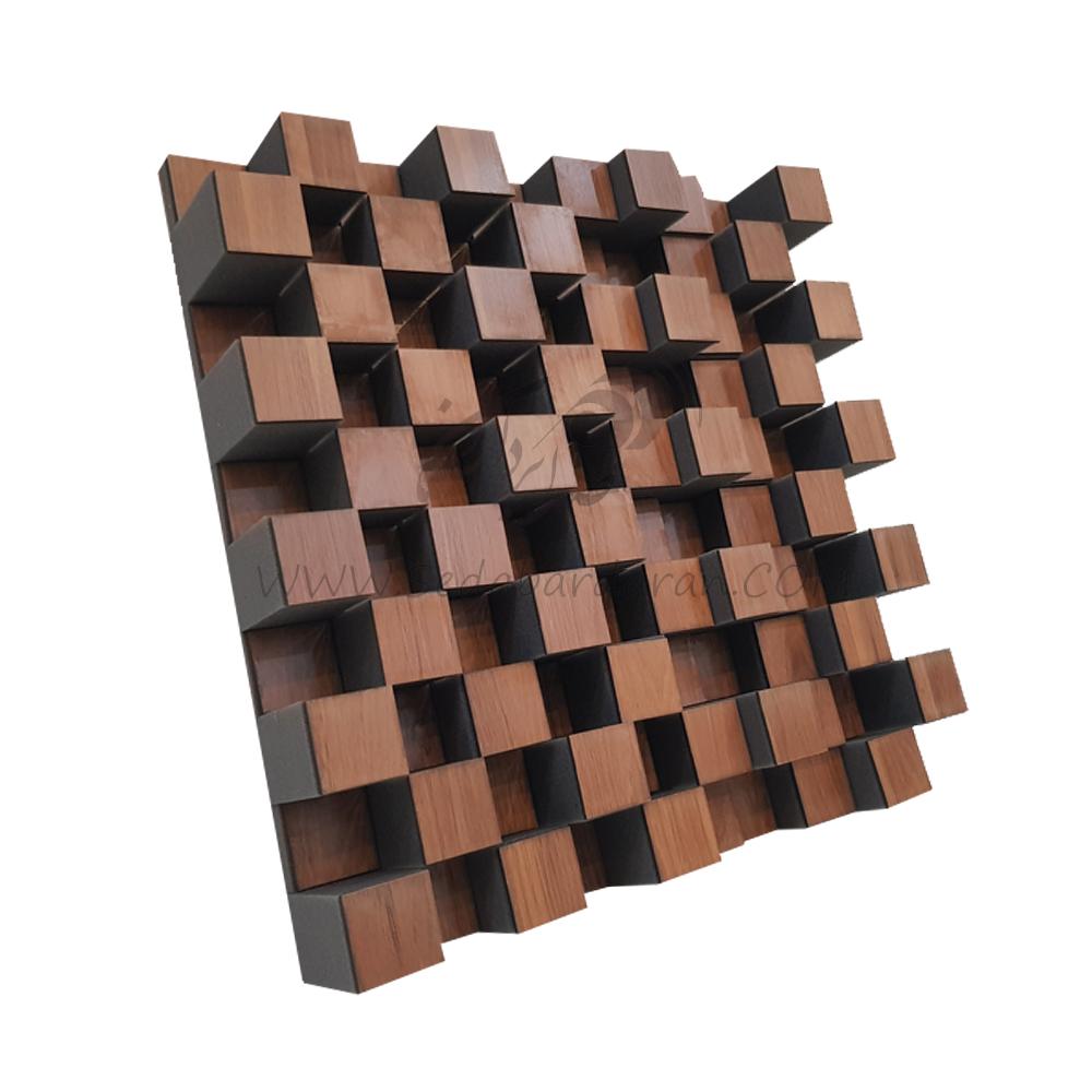 تجهیزات آکوستیک دیفیوزر روکش چوب قهوه ای diffuser DC2 wood brown
